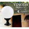 进口PC塑料乳白透明户外围墙灯专用圆球灯罩100mm