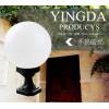 进口PC塑料乳白透明户外围墙专用圆球灯罩螺口350mm